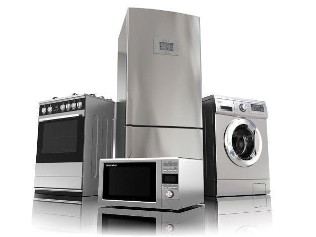 Fogão, geladeira, microondas e lavadora