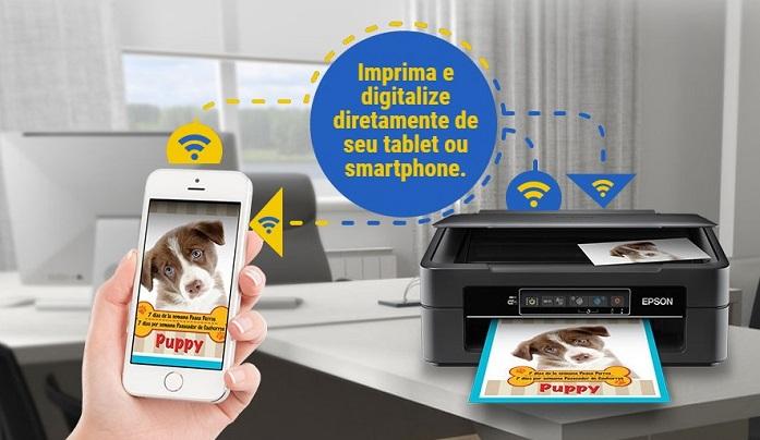 Reprodução de uma impressão via app Iprint