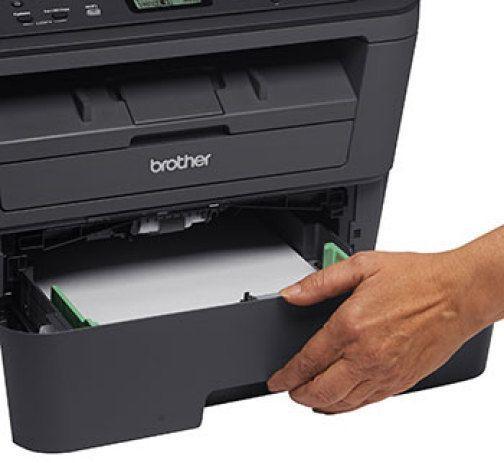 Abrindo gaveta de papel da DCP-L2540